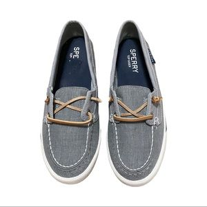 Sperry Top Siders Grey Lounge Away Boat Shoes (8)